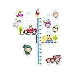 sourcingmap® Accueil Enfants graphique Design hauteur mesure PVC Mural Papier peint autocollant