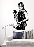Sticker mural Daryl Season 6, Vinyle, noir, Large