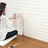 Stickers Muraux 3d Brique Tile Mur Stickers muraux, YTAT DIY Auto-Adhésif Autocollants Imperméable Papier Peint Décoration pour la Maison Bureau ...