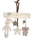 StillCool bébé mignon musique en peluche d'activité pour poussette bébé Jouets en peluche lapin à suspendre en forme d'étoile