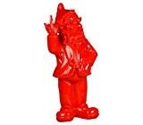 Stoobz PP 005ro 15x 12x 32cm Cheeky Garden Gnome Figurine pour maison et jardin–Rouge