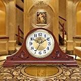 Style européen solide bois chambre salon décoration petite horloge horloge Horloge mise en sourdine lorsque créatif horloge 37 * 49 ...