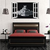 Sunshey Extra Large Star Wars Stickers 3D Star Destroyer Spaceship Window Stickers Removable Wallpaper Home Decor 60*100cm by Sunshey