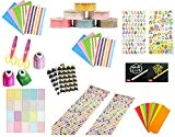 Super44day 10 en 1 kit de scrapbooking pour albums photo DIY Scrapbooking album scrapbooking anniversaire festival papiers et carte de ...