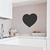 Supertogether Cœur repositionnable Ardoise Cuisine Réfrigérateur Tableau de Notes Room Autocollant Mural