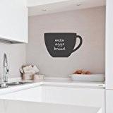Supertogether Tasse à Café repositionnable Ardoise Cuisine Réfrigérateur Tableau de Notes Autocollant Mural