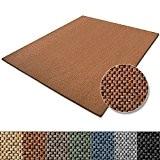 Tapis de salon terre cuite casa pura® effet sisal   polypropylene + coton   chambre, couloir   7 couleurs et ...