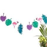 Tinksky Luau fête guirlande bannière Hawaii décorations (violet)