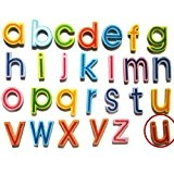 TOOGOO(R) 27 Lettres Minuscules Aimants en Bois de Refrigerateur pour l'Apprentissage d'Enfant Jouet pour Jeunes Enfants