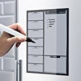 Top Home Solutions–Liste de courses Noir aimanté pour réfrigérateur avec marqueur effaçable à sec tableau blanc cuisine bureau Mémo Tableau ...