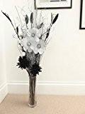 Unique mixte séchées & fleurs artificielles Bouquets 85cm prêt pour un vase, fabriqué au Royaume-Uni