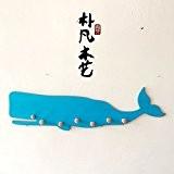 UPPER-Fait main en bois patère murale baleines crochet crochet vintage décoration murale lit et petits déjeuners dans l'art nordique bricolage ...