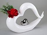 Vase décoratif blanc argenté 38x21 cm