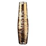 """Vase en verre, Collection """"GOLDEN DUST"""", or/transparent, 35 cm, fait à main (AMARA DESIGN powered by CRISTALICA)"""
