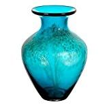 """Vase en verre, Collection """"ORIENT"""", bleu/or, 27 cm, fait à main (AMARA DESIGN powered by CRISTALICA)"""