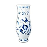 Vase en verre–Harmony, bleu–blanc, 40cm