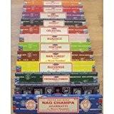 Véritable SATYA SAI BABA - Nag Champa variété MIX 12 X 15G boîtes de l'encens, Nag Champa contient MINUIT céleste, ...
