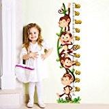 Wall Art r00220Stickers muraux pour enfants, mètre des singes Multicolore 30x 120x 0,1cm
