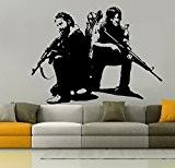 Wall Tattoo Rick and Daryl Walking Dead Design, Vinyl, black, Medium by Streetwall