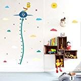 Wallpark Dessin animé Girafe sur Avion Croissance Hauteur Toise Amovible Stickers Muraux Autocollants, Enfants Bébé Chambre Pépinière DIY Décoratif Adhésif ...