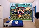 Walltastic 43770 Sam Fresque Murale Papier Peint le Pompier Polyester Rouge et Jaune 300 x 245 x 0,2 cm