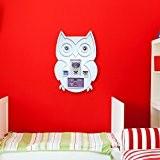 Walplus Stickers muraux Motif chouette Cadre amovible en vinyle autocollant murale Art Stickers Décoration DIY Salon Chambre Décor Papier Peint ...