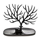 WINOMO Bijoux Stand Deer Antler arbre Design Bracelet Collier/bague support plateau (noir)