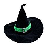 WINOMO Sorcière Chapeau Velours Vert Déguisements Costume Party Accessoire