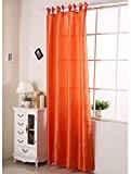 WOLTU VH5483,1 pièce Rideau à oeillet occultant, Rideau de Fenêtre, rideaux occultants de semitransparent Taille 140X245cm,Orange