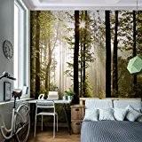 WTD 352 x 250 cm-rUNA papier peint de porte motif forêt papier peint à impression xXL photo p 9010011 mur ...