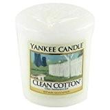 Yankee candle 1016719E Bougie votive senteur Coton Frais 49 g Blanc