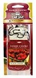 Yankee Candle 1137658 Pack de 3 Diffuseurs senteur Black Cherry/Cerise Griotte pour Voiture Carton Rouge 7,6 x 19,5 x 1,2 ...