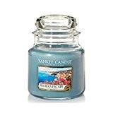 Yankee Candle 1507717E Bougie Parfumée Moyenne Jarre Escapade sur la Riviera Combinaison Bleu 9,9 x 9,8 x 11,6 cm 410 ...