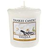 Yankee Candle 1507746E Bougie Votive Vanille Combinaison Blanc 5 x 4,5 x 5,3 cm 49 g