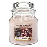 Yankee Candle 1519668E Bougies jarres moyen parfumée Bois précieux Verre Rose 10 x 9,8 x 11,6 cm