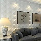 yazi Store Shop Papier peint 3D Dalles de Revêtement mural décoratif intérieur Panneaux Reconditionné Blanc 300x 300x 15mm