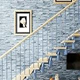 Yi Lian Stereo 3D Autocollant Mural Collage TV mur Backdrop Chambre Salon Autocollant Chambre (500 * 60cm) (vert)