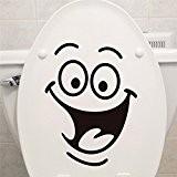 zooarts Big Mouth autocollant Stickers WC toilette Salle de bain Stickers Stickers muraux Amovible vinyle Art Decor Papier peint
