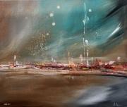 tableau marine mer voiliers ciel : UNIVERS BLEU