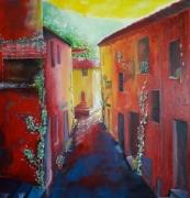 tableau paysages italie : Rue de Conflenti