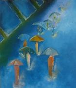 tableau scene de genre : Les Parapluies