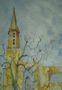 tableau paysages les accoules marseille eglise : les Accoules