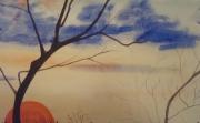 tableau paysages coucher de soleil : coucher de soleil