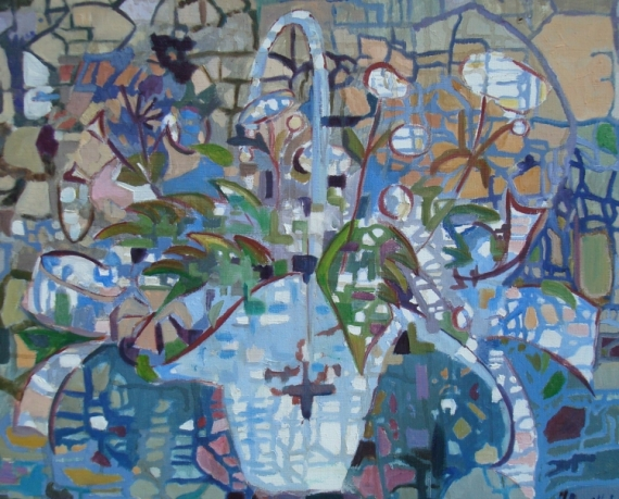 TABLEAU PEINTURE abstrait Abstrait Peinture a l'huile  - la corbeille oubliée