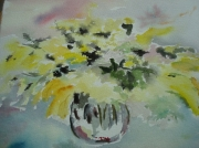 tableau fleurs mimosa aquarelle : mimosa