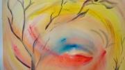 tableau paysages tourbillon vent branches : coup de vent
