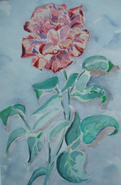 PAINTING Fleurs Aquarelle  - rose