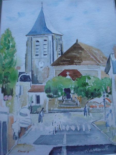 TABLEAU PEINTURE Paysages Peinture a l'huile  - en ville