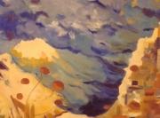 tableau paysages huile bormes les mimosas : Mer à Bormes les Mimosas