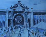 tableau paysages marche couvert per : Les Halles à Narbonne